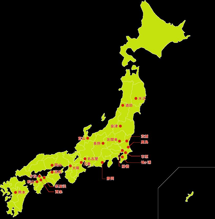 拠点の地図